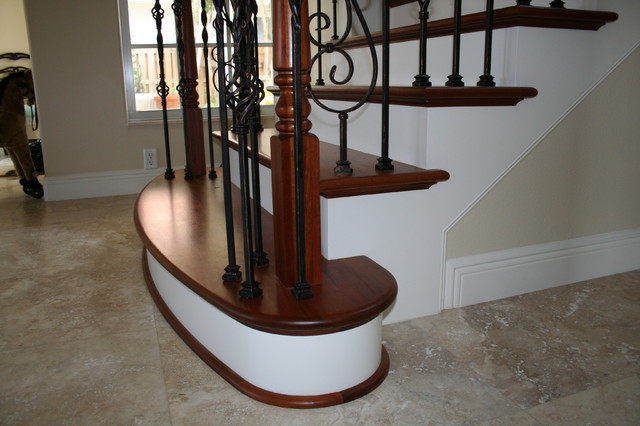 Superior Box Newel U0026 Volute Hybrid Stair Project. Gillette Residence. Melbourne  Beach Fl Mediterranean