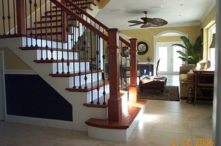Box Newel Theme Stair Project. Dinger Residence. Rockledge ...