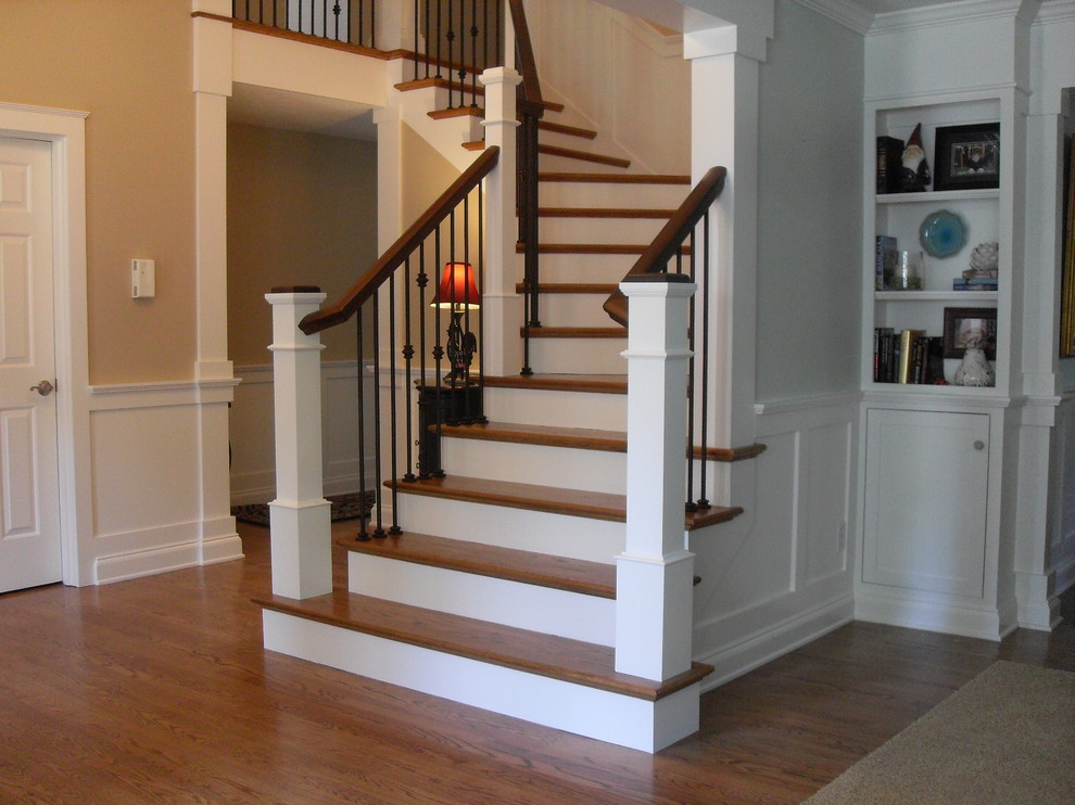 Inspiration for a timeless staircase remodel in Portland