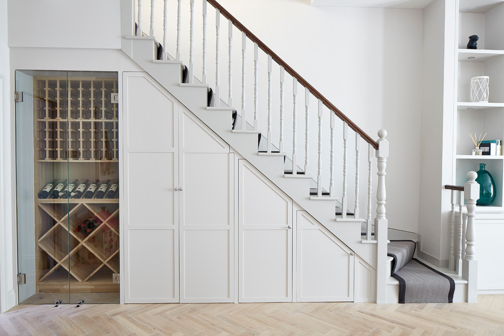 Example of a transitional staircase design in London
