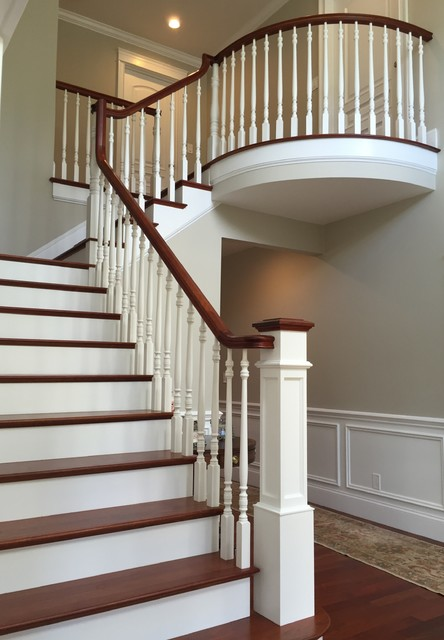 Brazilian Cherry Staircase Traditional Staircase