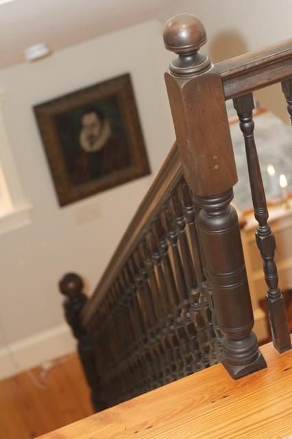 Brick Hill farmhouse-staircase