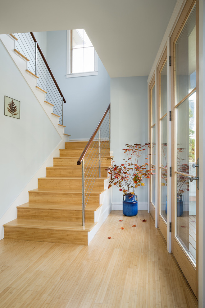 Inspiration for a transitional staircase remodel in Portland Maine