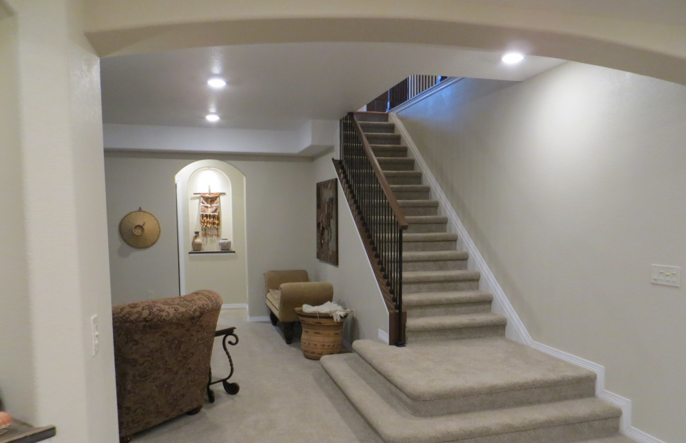 Inspiration for a transitional staircase remodel in Denver