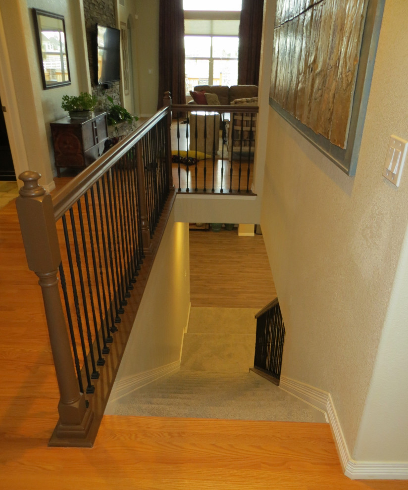 Staircase - transitional staircase idea in Denver