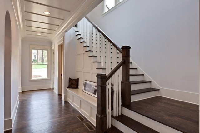 Brookhaven Custom Home   Contemporary Tudor Traditional Staircase