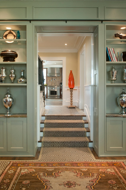 Brookline Private Residence transitional-staircase