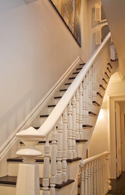 Brooklyn Brownstone Townhouse traditional-staircase