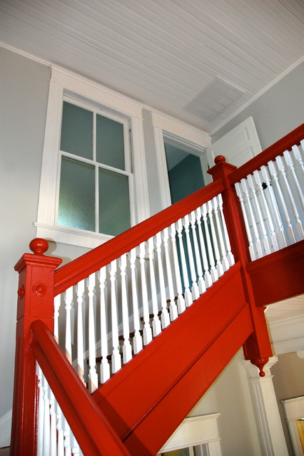 Burch Avenue restoration traditional-staircase
