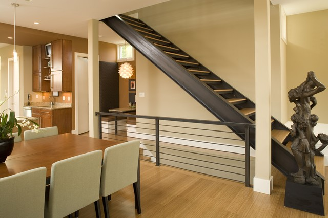 C S Residence Contemporary Staircase Indianapolis
