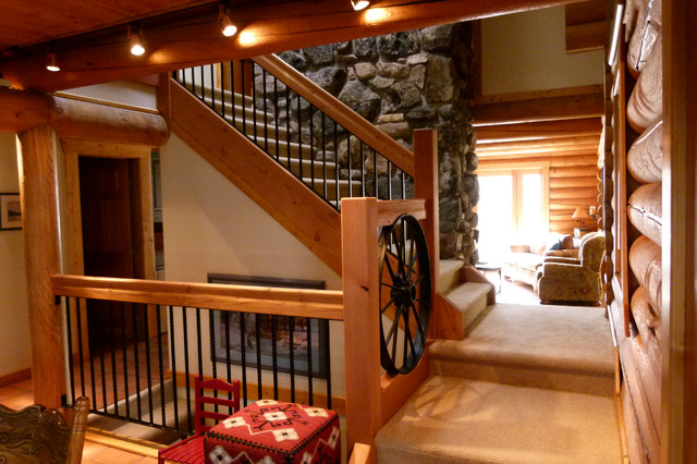 Cabin Stair Remodel And Bathroom Addition Traditional Staircase Denver By Nicholas