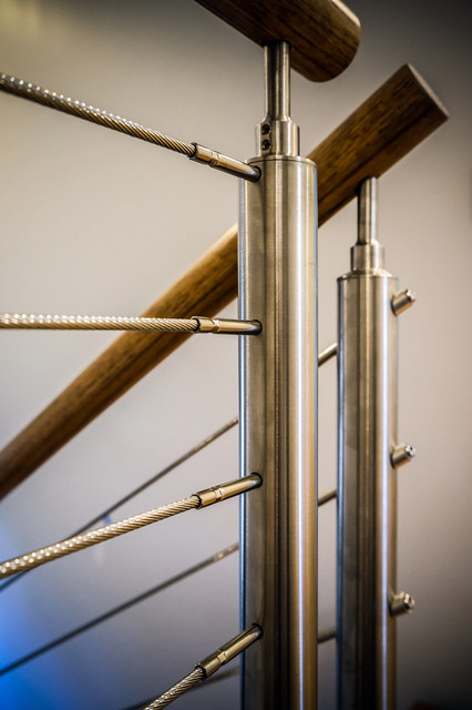 Cable - Staircase - Modern - Staircase - atlanta - by Southern ...