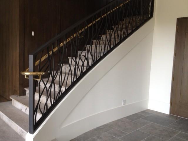 Camden CT, Newport Coast transitional-staircase