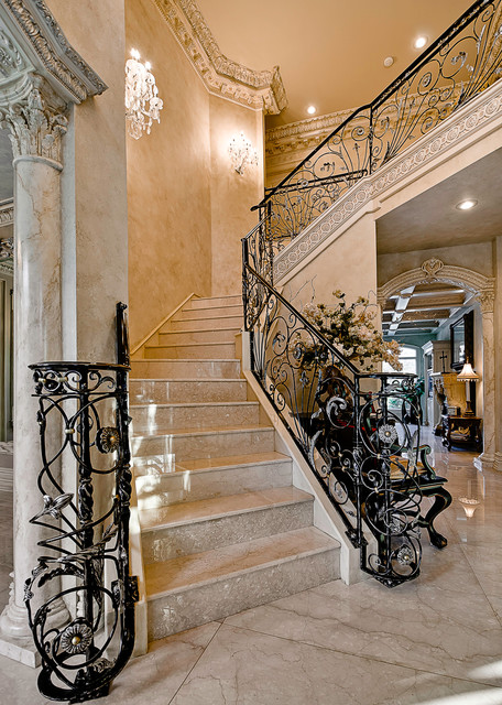 Candlewood estate home by celtic traditional staircase for Little rock custom home builders