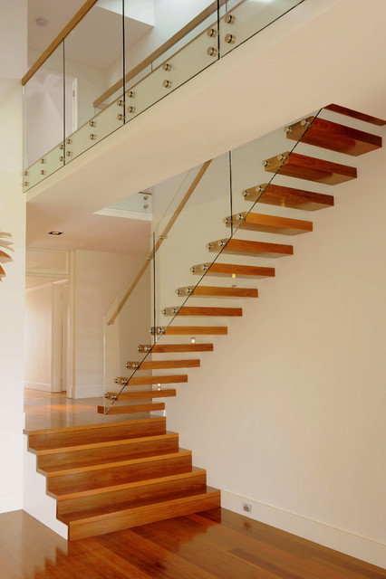 Cantilevered Stair Contemporary Staircase