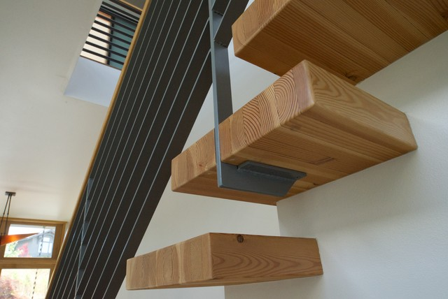 Cantilevered Stair Treads Modern Staircase