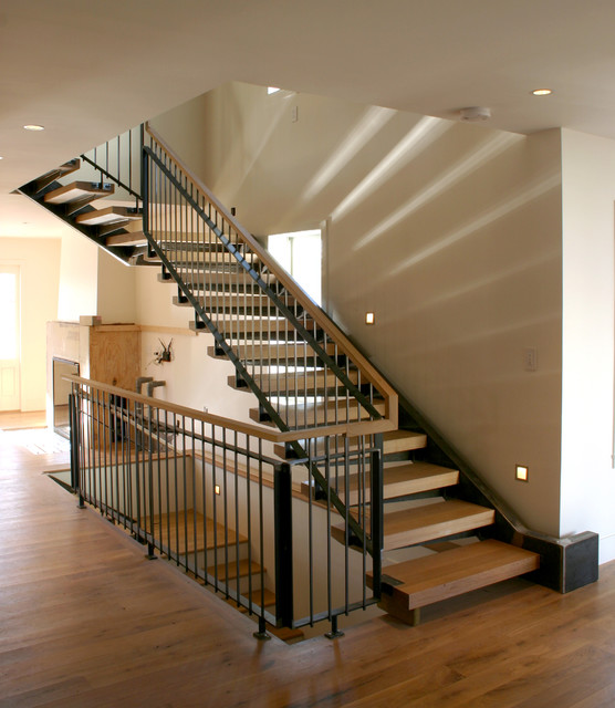 Cantilevered Staircase modern-staircase
