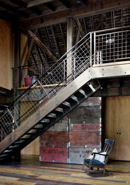 Canyon Barn Rustic Staircase Seattle By Mw Works