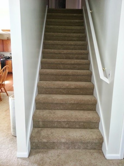 Carpet Transitional Staircase Other By Custom Home