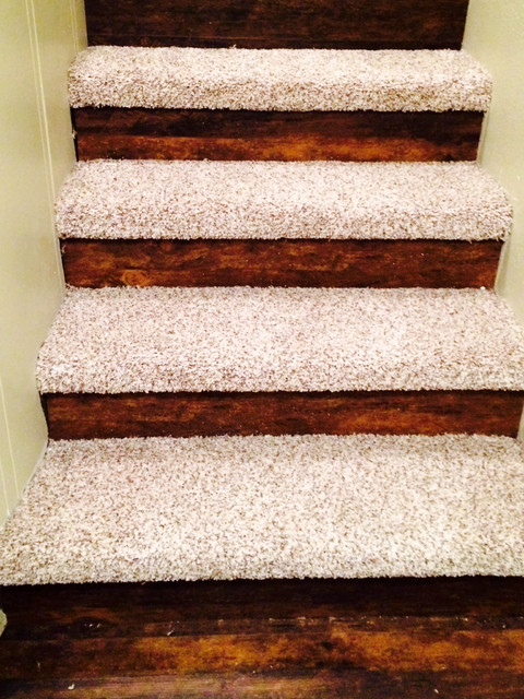 Carpet Steps With Vinyl Plank Risers