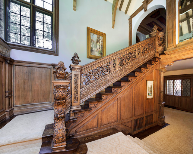 Carved Staircase - Victorian - Staircase - New York - by WL Kitchen & Home  | Houzz UK