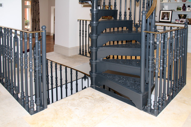 Cast Spiral Staircase With Brass Handrail Victorian Staircase