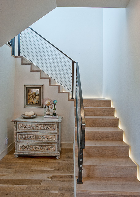 Cat Mountain Residence transitional-staircase