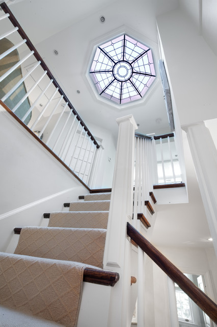 Cathedral skylight traditional staircase dc metro by anthony