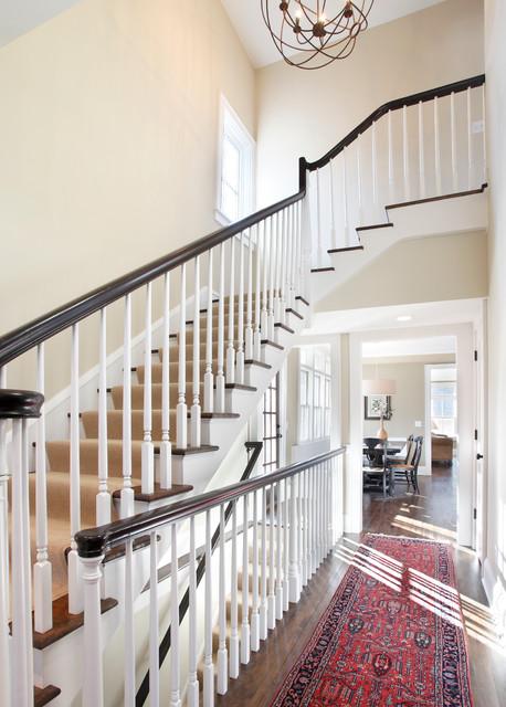 Cedar Lake Renovation traditional-staircase