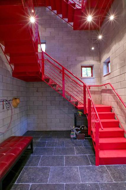 Cedar Lake Residence Stair Industrial Staircase
