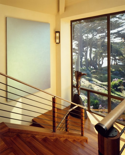 Central coast house and library modern staircase san for Home designs central coast