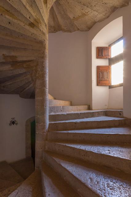 Mediterranean Staircase Tower : Chateau d esparron provence mediterranean staircase