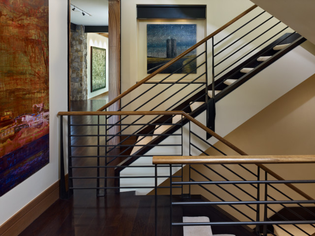 Cherry Hills Western Eclectic Rustic Staircase