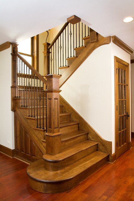 Cherry Staircase Traditional Staircase