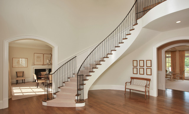 Foyer Stairs Uk : Chic dramatic foyer transitional staircase dc metro