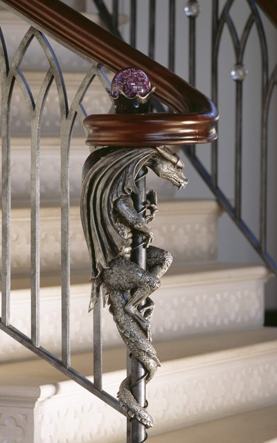 Childs Point eclectic-staircase