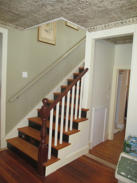 Chris k stairs farmhouse staircase portland maine for Farmhouse stairs