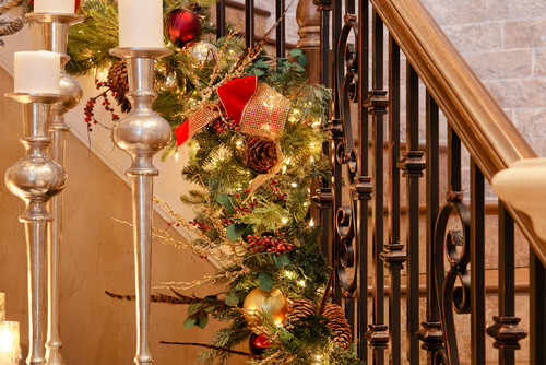 photo by the design shoppe browse staircase photos - Christmas Decorations Staircase Hand Railing