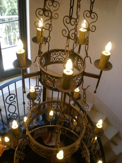 Circular stair light fixture for Mediterranean lighting fixtures