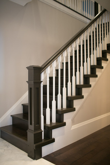 City Glam In The Country Traditional Staircase