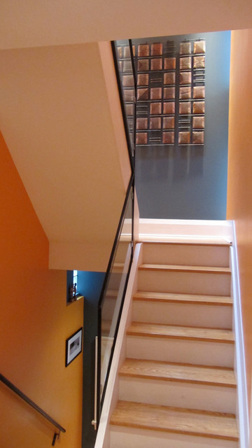 City House renovation and addition transitional-staircase