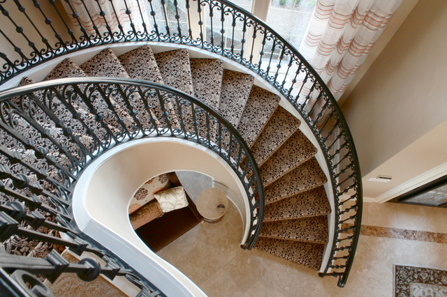 Classic and elegant rockwall home traditional - Classy images of cool staircase design ...