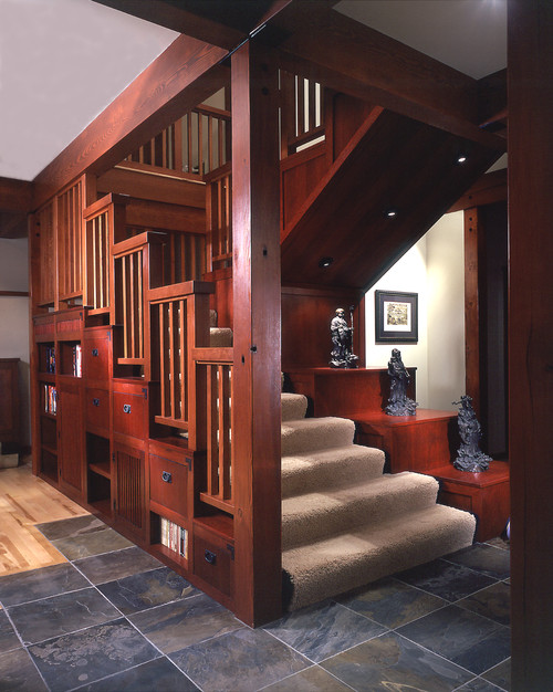 Staircase Architecture In A Bellevue Home