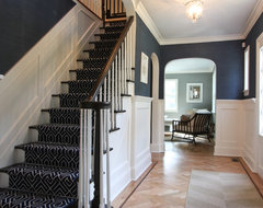 Classic Coastal Colonial Foyer traditional-staircase