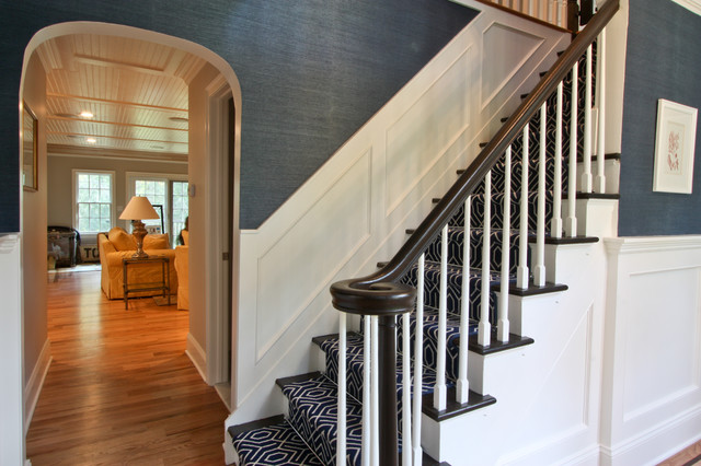 Foyer Staircase Uk : Classic coastal colonial foyer traditional staircase