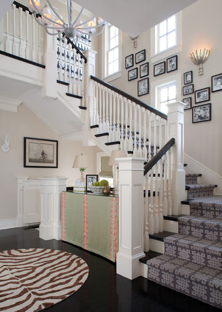 Classic stair for Classic foyer design