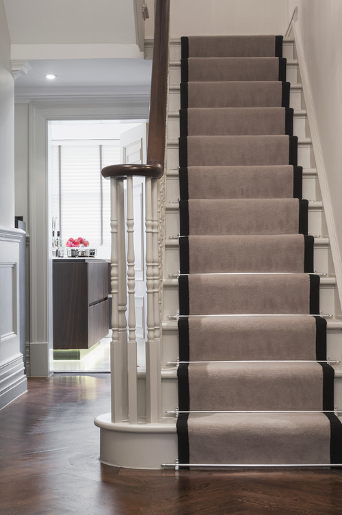One Design Option That Both Looks Great And Functions Well In Your Busy  Household Is Stairway Rugs Or Stairway Runners.