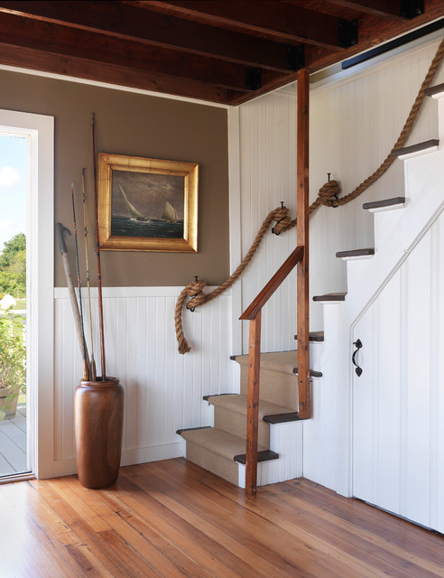 Coastal Cottage - Beach Style - Staircase - providence - by Kate ...