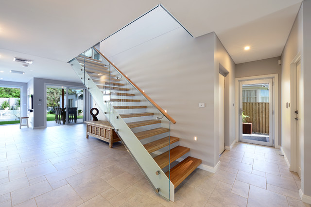 Coastal design grech house nsw beach style staircase for Beach home designs nsw