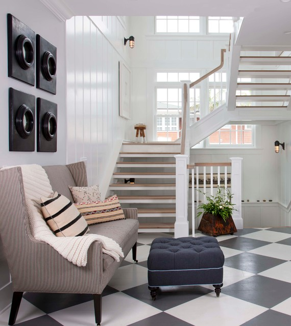 Coastal Living Magazine Showhouse Beach Style Staircase